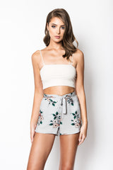 Flirt Ribbed Crop Top