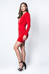 Temptation Long Sleeve Mini Dress