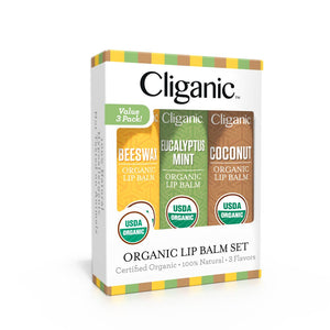 Organic Lip Balms Set of 3