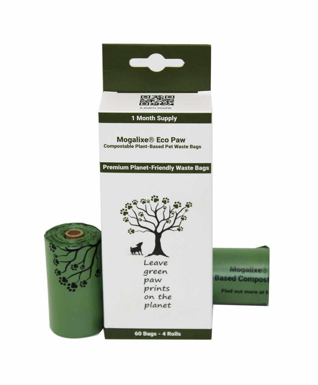 Compostable Pet Waste Bags (4 Rolls)
