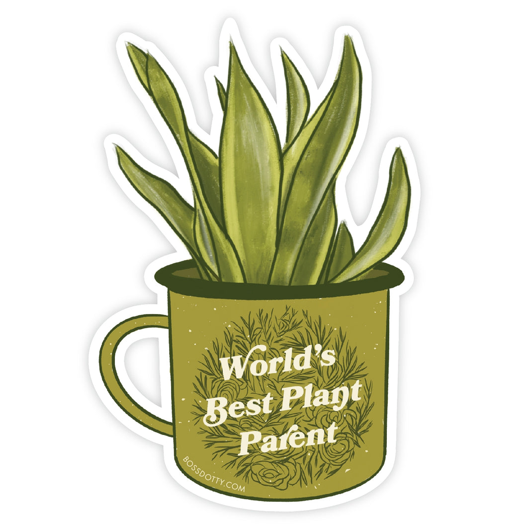 World's Best Plant Parent Sticker