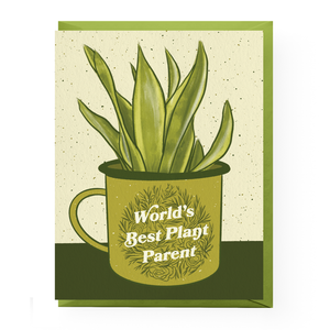 World's Best Plant Parent Card