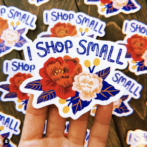 I Shop Small Sticker