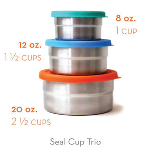 Blue Water Bento Seal Cup Trio (3 PC Set)