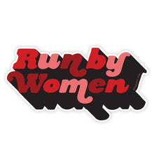 Load image into Gallery viewer, Run By Women Sticker