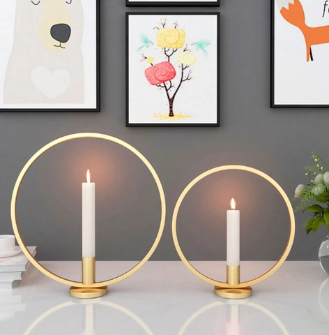 Circle Ring Candlestick Holder - edentreecandles