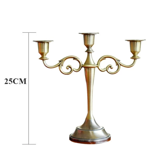 Decorative Bronze Candle Holder - edentreecandles