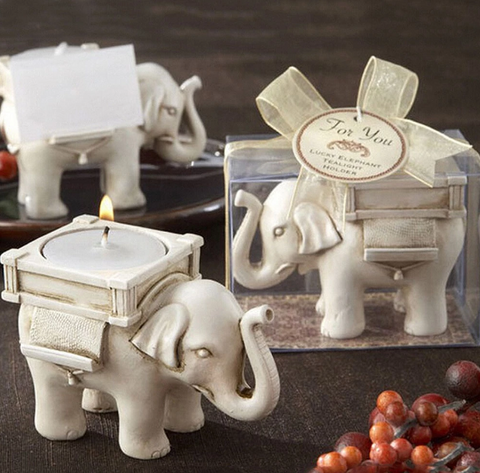 White Elephant Candle Holder - edentreecandles