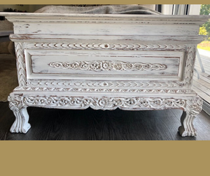 White Balinese Blanket Box