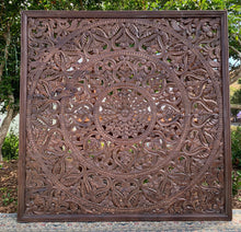 Load image into Gallery viewer, Hand Carved Mandala Headboard
