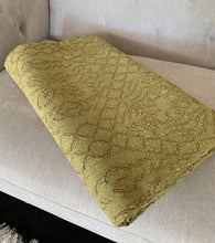 Load image into Gallery viewer, Hand Dyed Olive Quilt / Throw