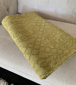 Hand Dyed Olive Quilt / Throw