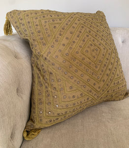 Large Olive Cushion
