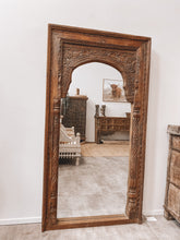 Load image into Gallery viewer, Ornately Carved Indian Mirror