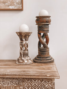 Twisted Pillar Candle Holder
