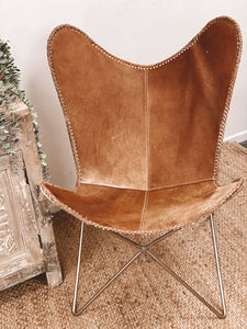 Beautiful Cowhide Butterfly Chair