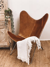 Load image into Gallery viewer, Beautiful Cowhide Butterfly Chair