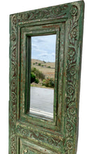 Load image into Gallery viewer, Antique Shutter Panel Mirror (green)