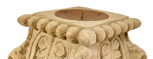 Indian Pillar Base Candle Holder