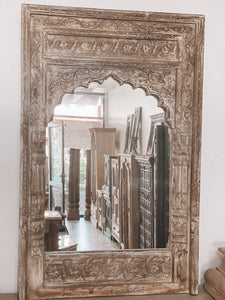 Ornately Carved Indian Mirror