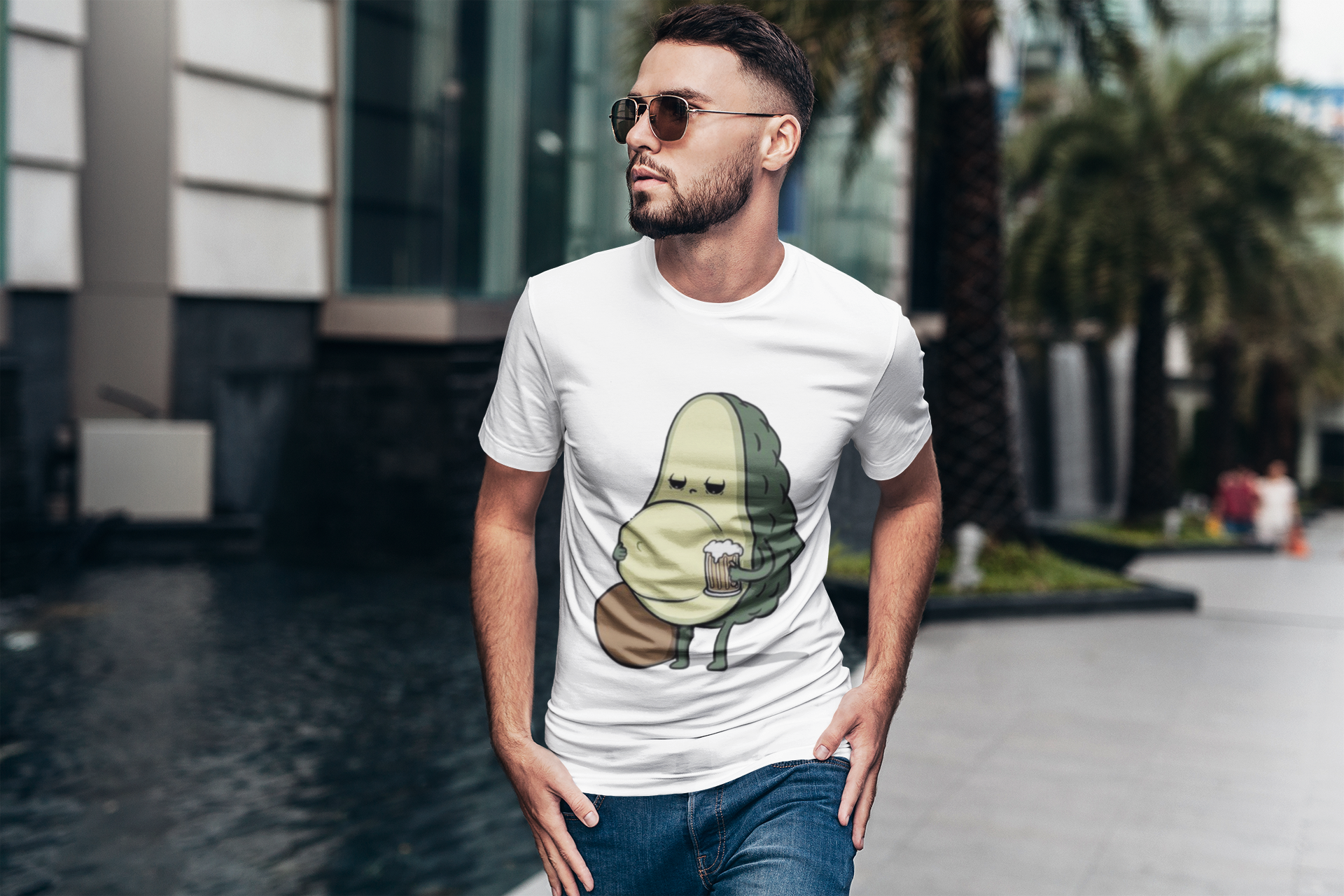 Funny Avocado Beer Belly T-Shirt