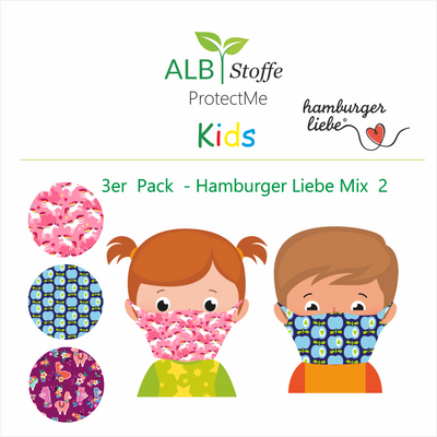 ProtectMe Kids *3-pack* Hamburger Liebe Mix 2