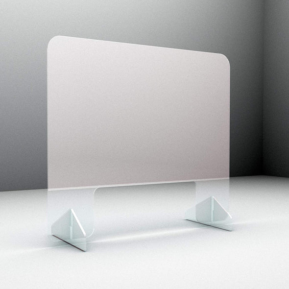 AVO - Protective Freestanding Sneeze Guard | Plexiglass Shield Stand
