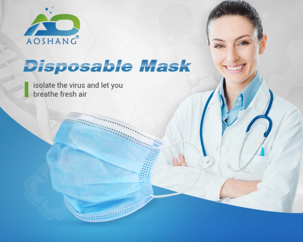 AOSHANG Disposable ASTM Level 2 Medical Face Mask