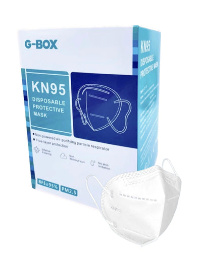 G-Box KN95 Disposable 5 Ply Protective Mask (Adult 50-pcs, Individually wrapped)