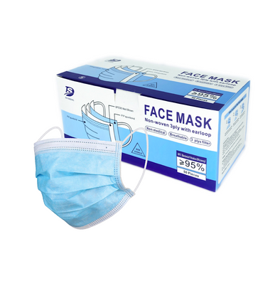 DaSheng 3 Ply Disposable  Face Mask (50-pcs)