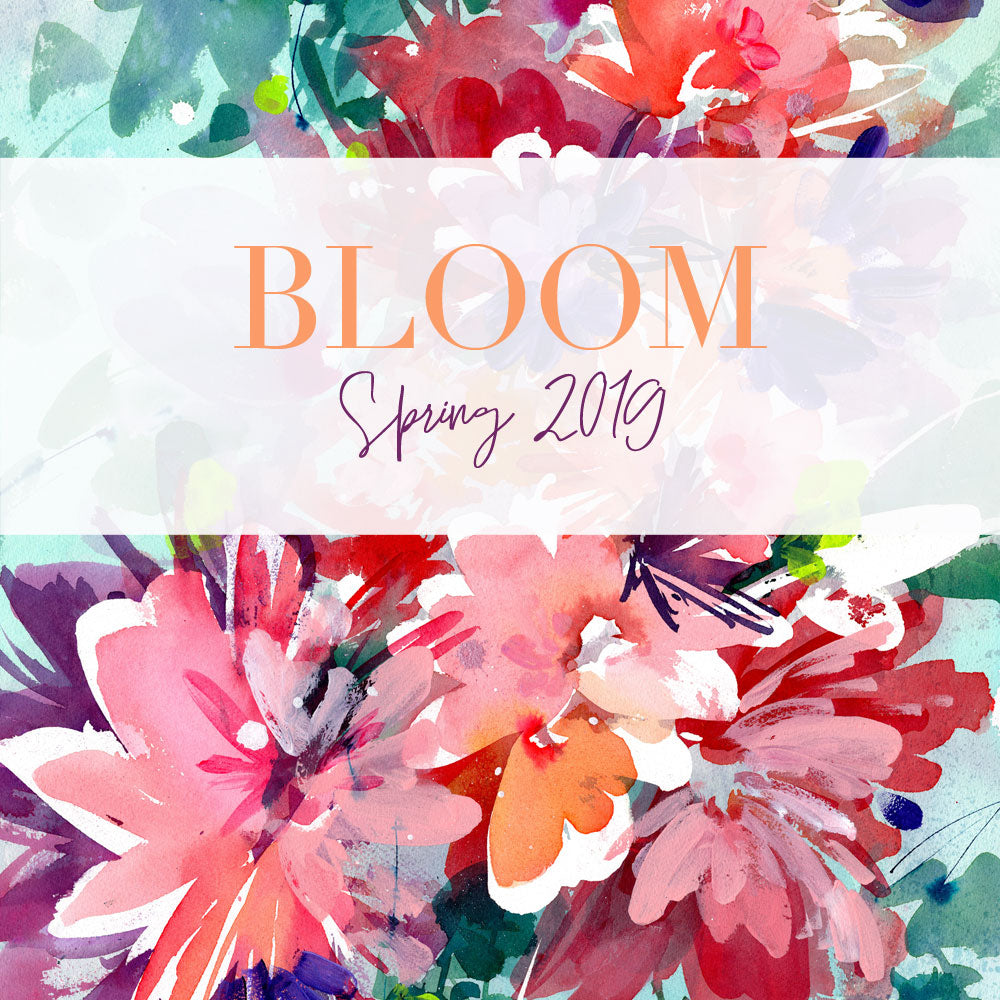 Bloom, spring collection 2019. Original Floral art by artist CreativeIngrid | Ingrid Sanchez in London.