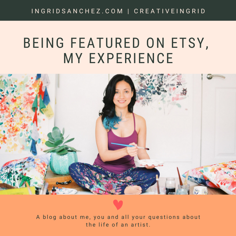 Social media features, my Etsy experience