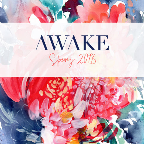 Awake, collection of botanical abstract paintings by CreativeIngrid | Ingrid Sanchez. Spring Collection 2018.