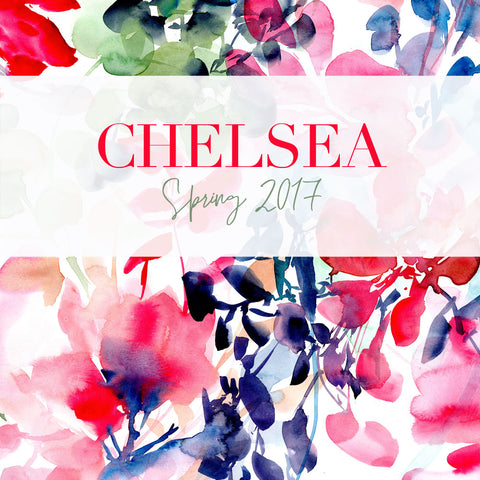 Chelsea flower collection of paintings by artist Ingrid Sanchez, AKA CreativeIngrid. London, Spring 2017.