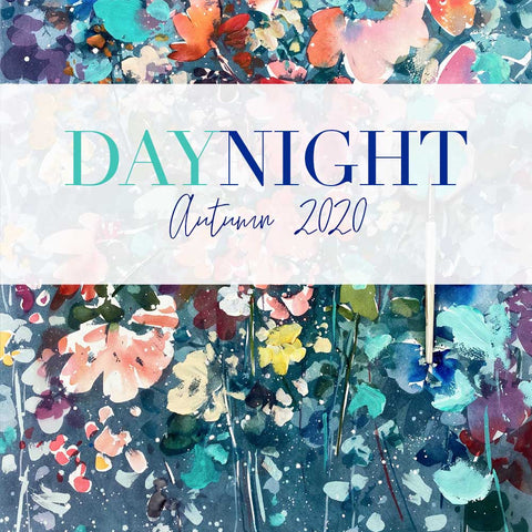 DayNight, Autumn Art Collection, watercolors by Ingrid Sanchez, AKA CreativeIngrid.