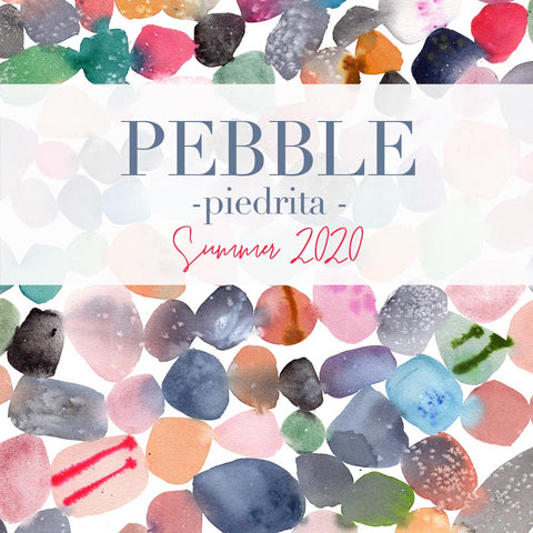 Pebble Art Collection showcasing original watercolors by artist Ingrid Sanchez, CreativeIngrid.