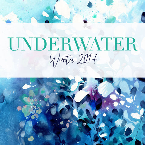 Underwater collection of watercolour paintings inspired by the sea. CreativeIngrid | IngridSanchez, London 2017.