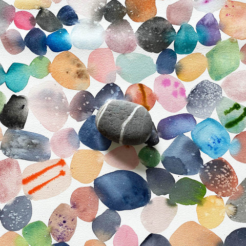 pebble beach watercolor by Ingrid Sanchez-CreativeIngrid