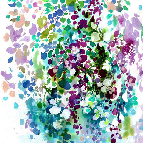 Petals and Leaves, watercolor by Ingrid Sanchez. London 2017.