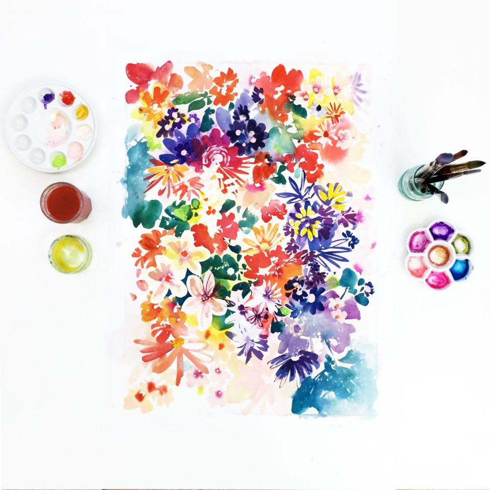 Garden in Bloom, Original Art | Ingrid Sanchez - CreativeIngrid | Ingrid Sanchez
