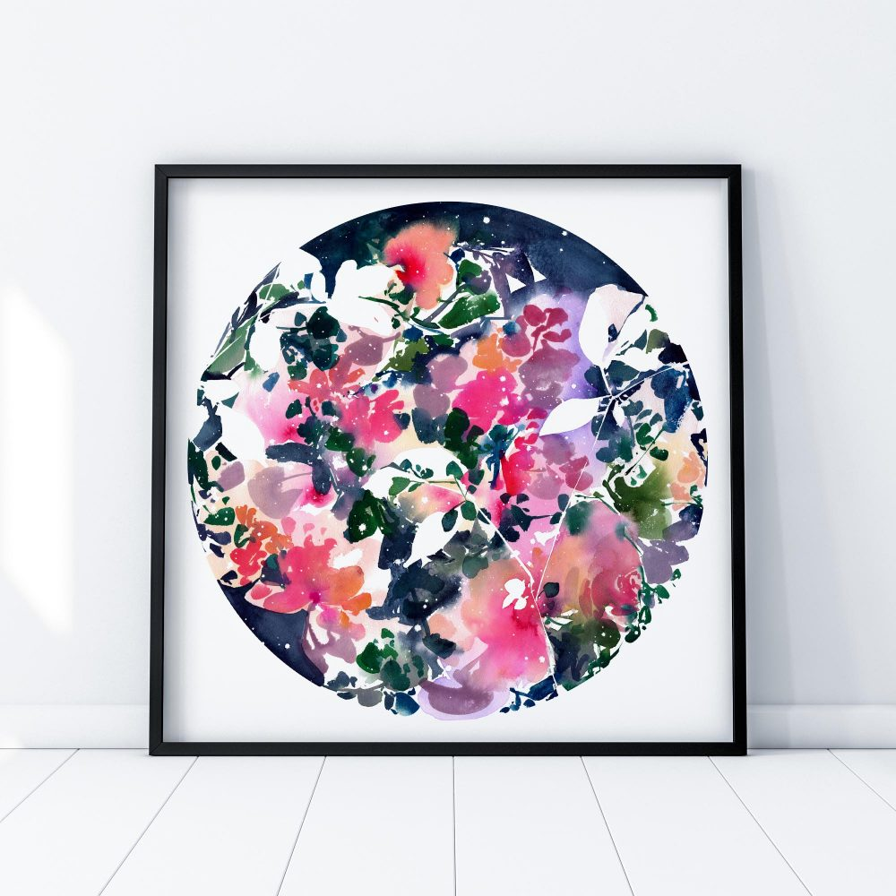 Blooming Sky, Original Art | Ingrid Sanchez - CreativeIngrid | Ingrid Sanchez