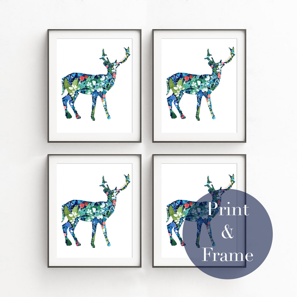 Botanical Deer, Printable file | CreativeIngrid - CreativeIngrid | Ingrid Sanchez
