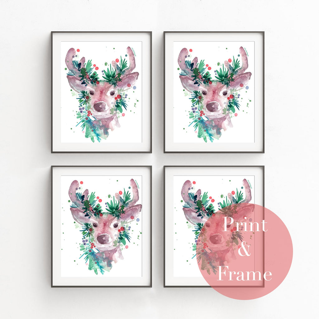 Evergreen Reindeer, Printable file | CreativeIngrid - CreativeIngrid | Ingrid Sanchez