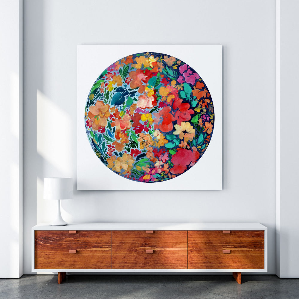 Floral Eclipse Moon - Art Print - CreativeIngrid | Ingrid Sanchez