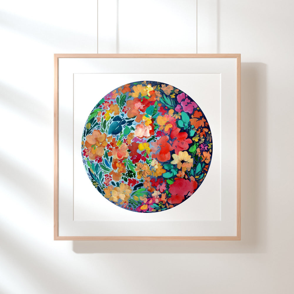 Floral Eclipse Moon, Art Print | CreativeIngrid - CreativeIngrid | Ingrid Sanchez