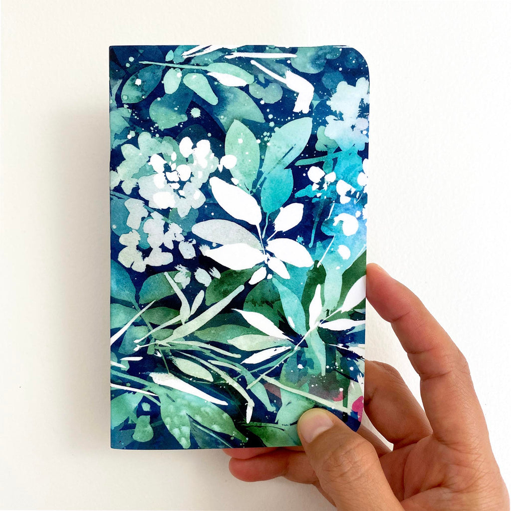 Green turquoise leaves, notebook | CreativeIngrid - CreativeIngrid | Ingrid Sanchez