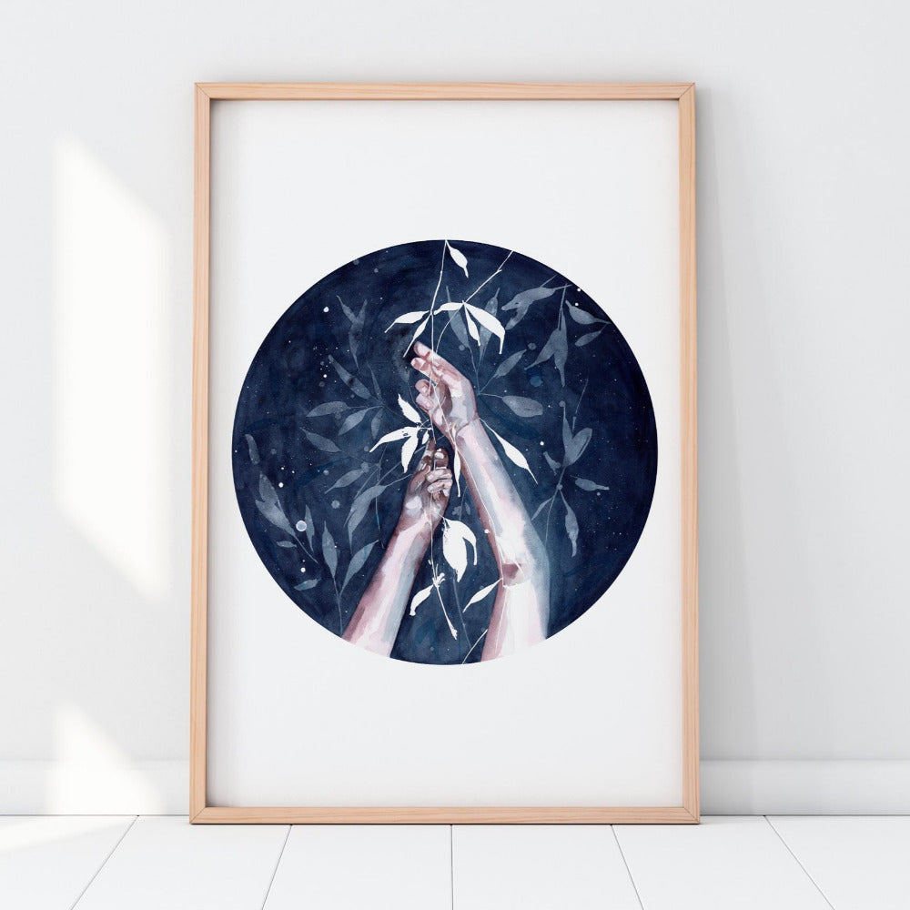 Moonlight Weaving - Art Print - CreativeIngrid | Ingrid Sanchez