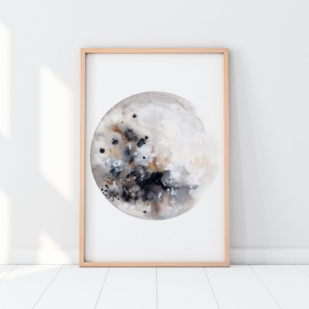 Silver Moon - Art Print - CreativeIngrid | Ingrid Sanchez