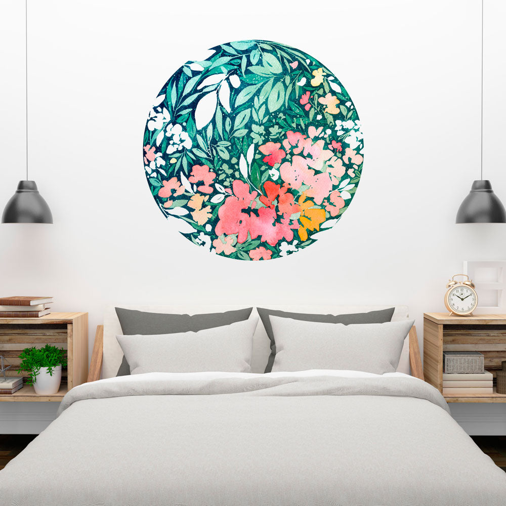 Snowy Bloom Wall Sticker | CreativeIngrid - CreativeIngrid | Ingrid Sanchez