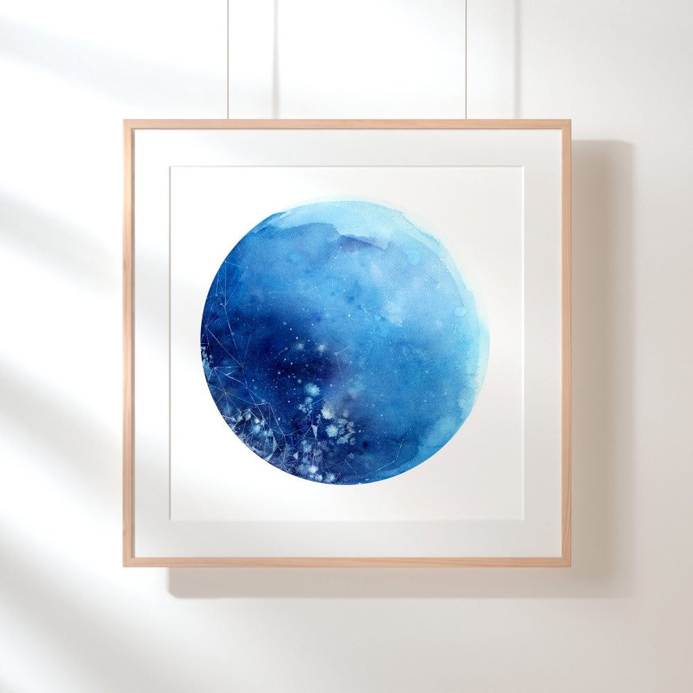 Blue Moon, Art Print | CreativeIngrid - CreativeIngrid | Ingrid Sanchez